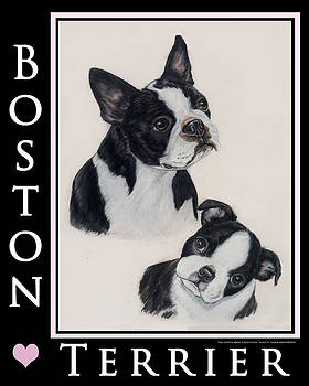 Boston Mom and Pup by Ellen Lyner