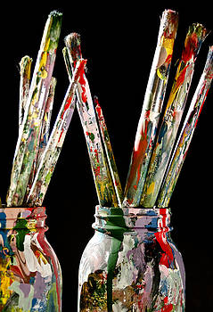 Vintage Artist Paintbrushes by Ioana Todor