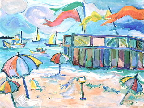 Buckroe Beach - En Plein Air by Brenda Ruark