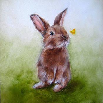 Bunny Nursery Art by Junko Van Norman