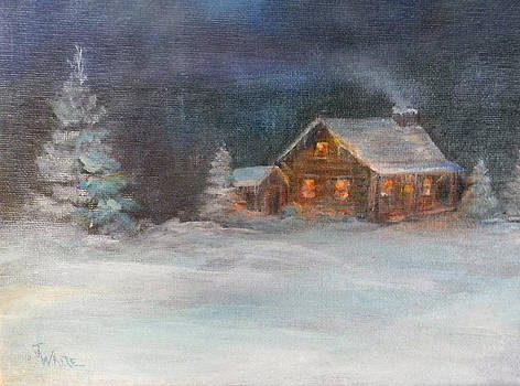 Cabin in the Woods by Judie White