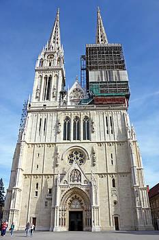 Cathedral in Zagreb Croatia by Borislav Marinic