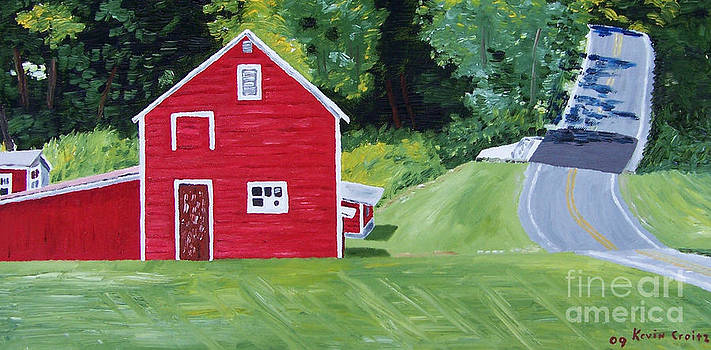 Catskill Red Barn by Kevin Croitz