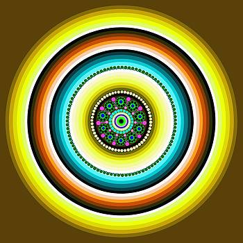 Circle Motif 232 by John F Metcalf