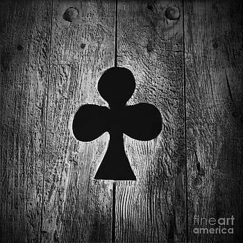 BERNARD JAUBERT - Clover shape cut out of wooden door