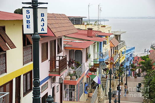 Colorful houses on Cerro Santa Ana by Sami Sarkis