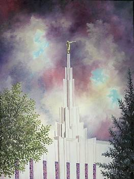 Denver Temple by Amber Whiting Bradley