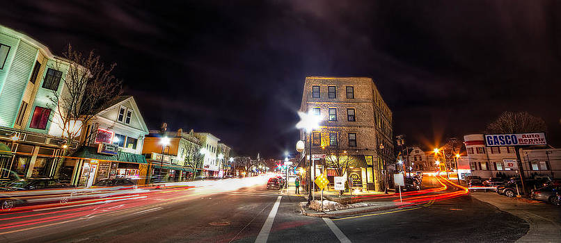 Downtown Milford MA by James Wellman