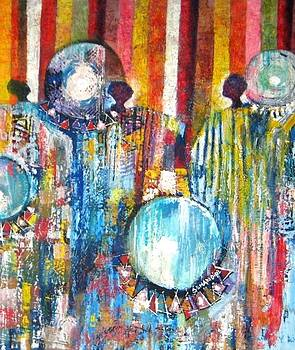 Drummers by Benedict Adedipe