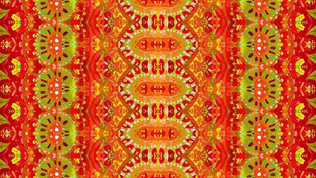 Ethnic Abstract Pattern by Julia Fine Art And Photography