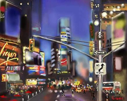 Evening in NYC Edged by Mark Givens