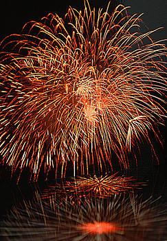 Firework Reflection by Joan Powell