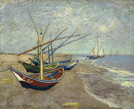 Vincent van Gogh - Fishing boats on the beach at Les Saintes-Maries-de-la-Mer