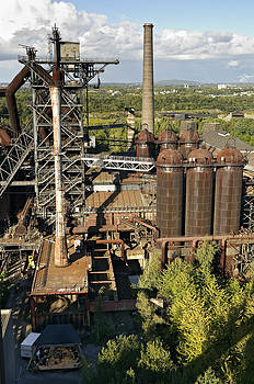 Former steel works Duisburg Germany by David Davies