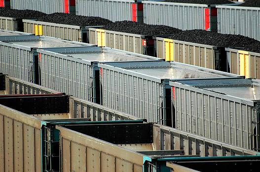 Freight yard in Marysville Kansas.  by Rob Huntley
