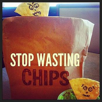Fun With Chips And Gauc. #chipotle by Amanda Max
