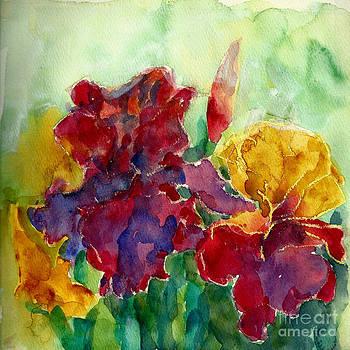 German Irises by Toshiko Tanimoto