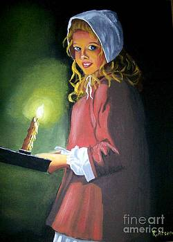 Girl With Candle by Robert Arsenault