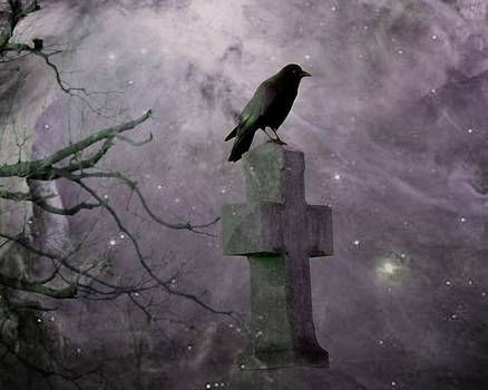 Gothicrow Images - Surreal Crow In Gothic Purple Sky