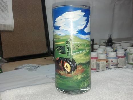 Green Tractor by Dan Olszewski