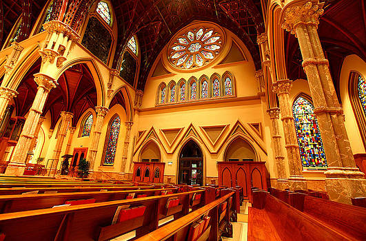 Holy Name Cathedral by Linda Edgecomb
