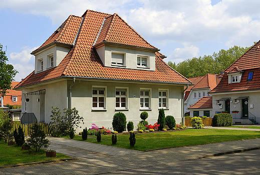 Industrial Housing estate Ruhrgebiet Germany. by David Davies