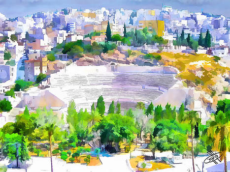 Jordan/Amman/roman theater by Fayez Alshrouf