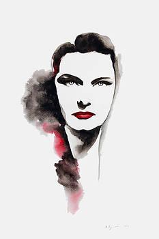 Karady Katalin Portrait by Mahsa Watercolor Artist