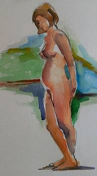 Standing Nude by Janet Butler