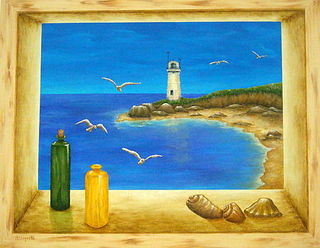 Lighthouse View by Pamela Allegretto
