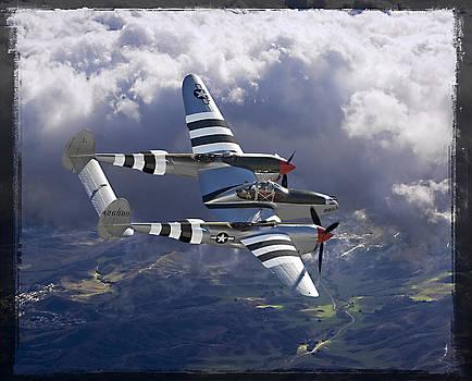 Lockheed P-38 Lightning by Larry McManus