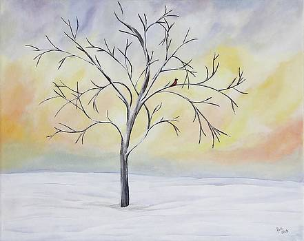 Lonely Tree In Winter by Patricia Alexander