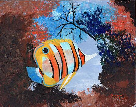 Longnose Butterfly Fish by J Cheyenne Howell