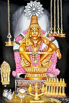 Lord Ayyappan by Sankaranarayanan