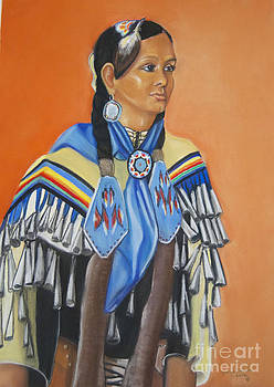 Mariah Rainer pow wow dancer by George Chacon