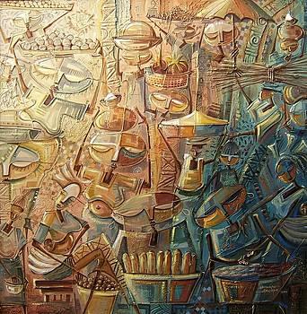 Market scene by Omidiran Gbolade