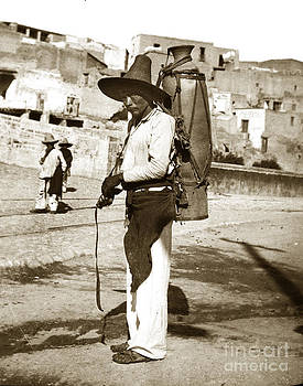 California Views Mr Pat Hathaway Archives - Man with a large jug Mexico circa 1902