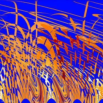 Roy Erickson - Modern Art VIII - variation in Orange and Blue