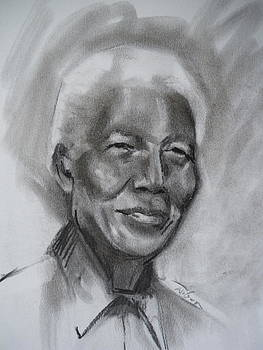 Nelson Mandela sketch by Ron Wilson