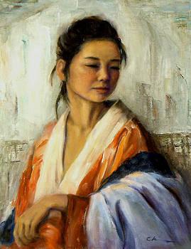 Chisho Maas - Orange Kimono