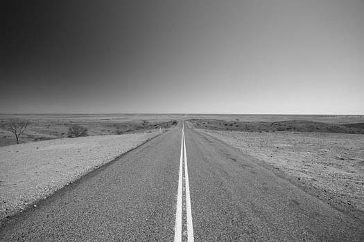 Outback Road Black and White by Carl Koenig