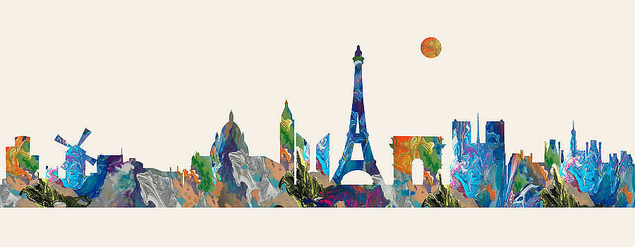 Paris Skyline France by Lila Shravani