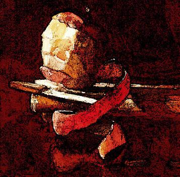 Peeled Apple by Daniel Bonnell