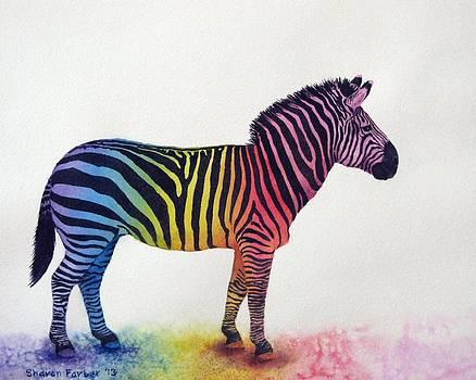Rainbow Zebra by Sharon Farber