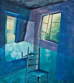 Raumirritation 17 by Gertrude Scheffler