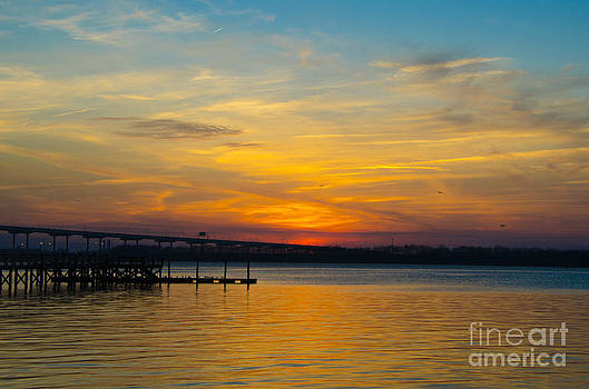 Dale Powell - Sky on Fire over Charleston Waters
