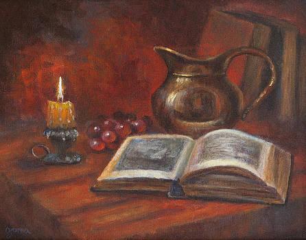 Reading by Candle light by Jana Baker