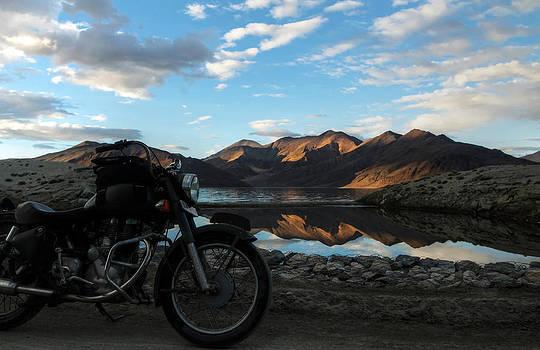 Rider at Pangong by Rohit Chawla