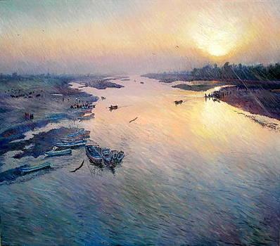 River ravi  by Abid Khan