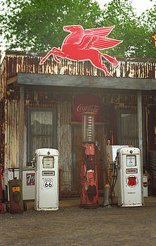 Route 66 Vintage Pumps by Frank Romeo